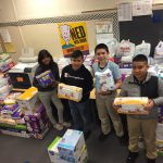 The Young Leaders of Tomorrow organized their fundraiser for HappyBottoms.org.  This past week they organized a Diaper War.  New Stanley Stallions had a blast bringing in diapers to win grade level prizes.  Over 5,600 diapers were donated to help families in need. Photo Credit: Ms. Short