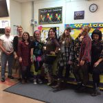 Staff participates in Decades Day.