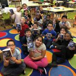 Students participated in a presentation from the Kiwanis Dictionary Project and received personal dictionaries.