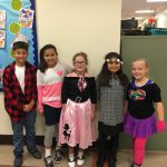 Students participate in Decades Day.