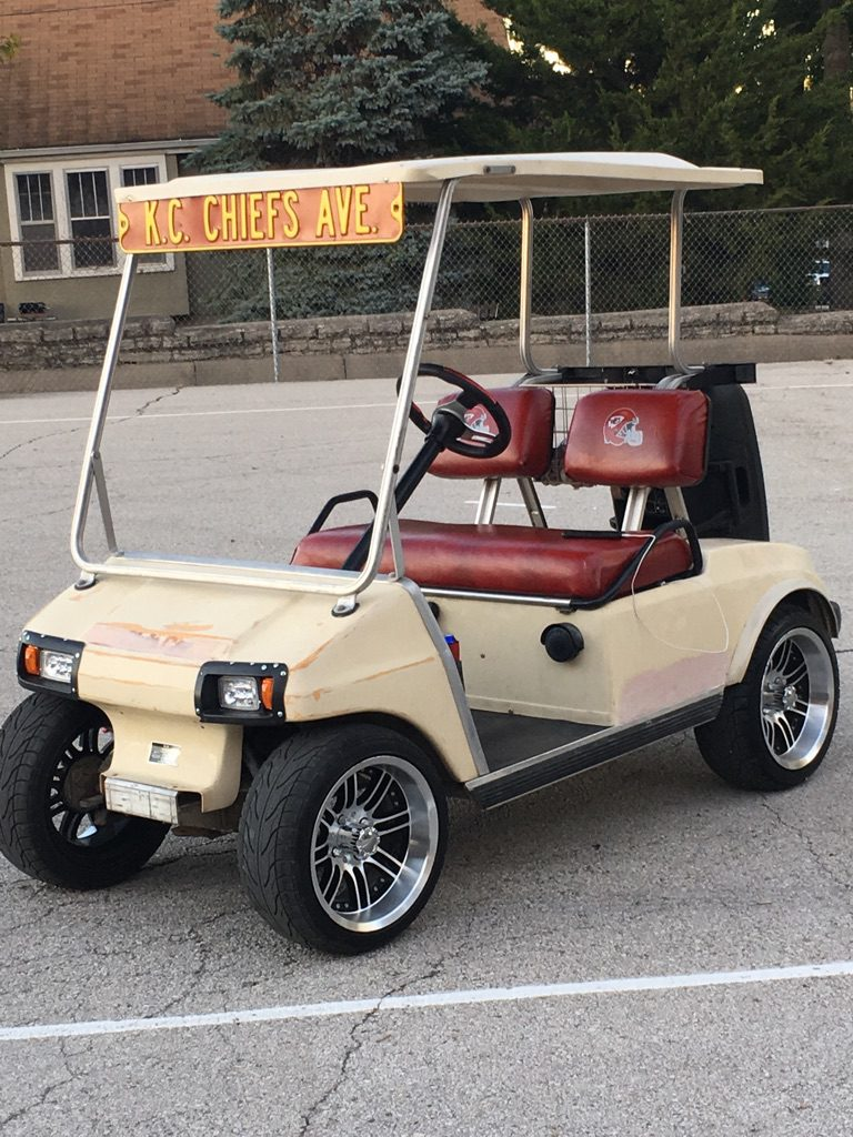 KC Chiefs Golf Cart