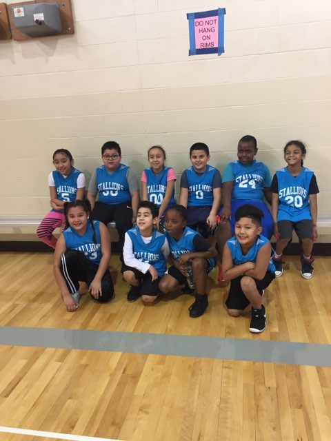 New Stanley's K/1 Basketball Team's First Game was on January 26, 2019. They won!! Photo Credit: Ms. Short
