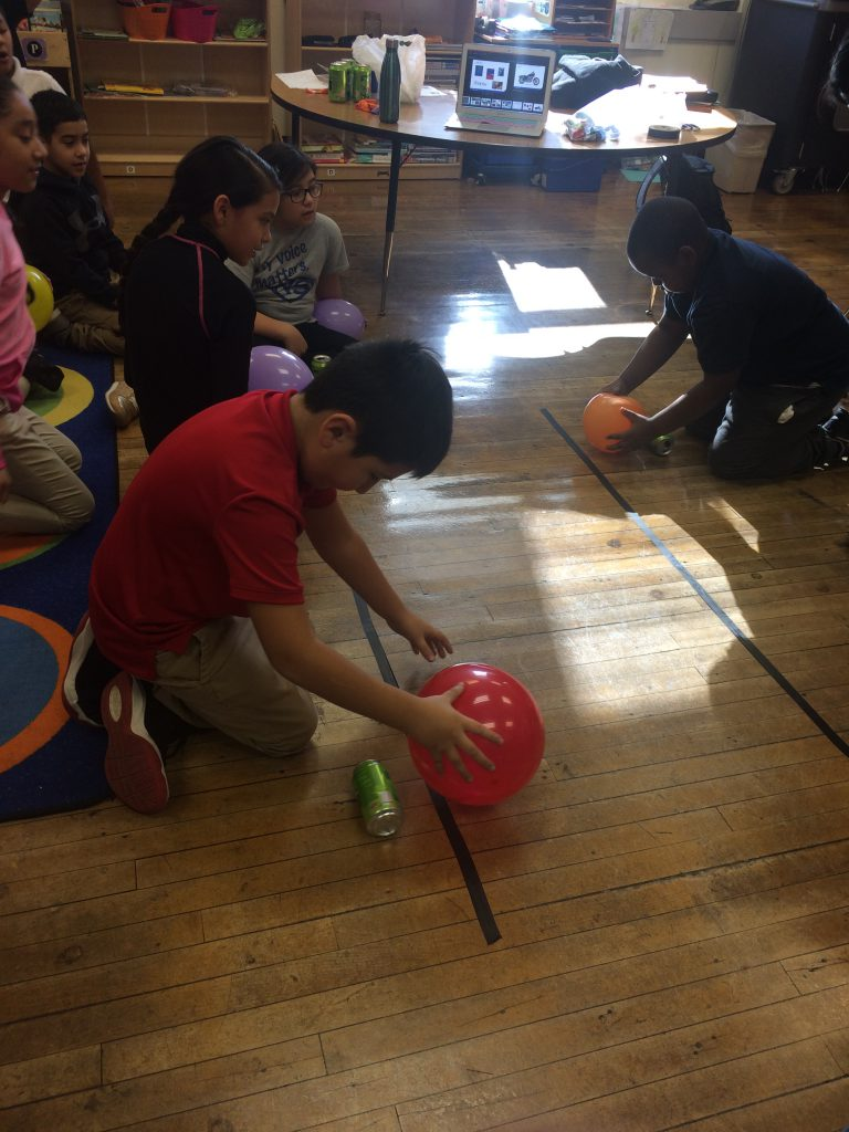 Ms. Sims' class had an engineer come in as a guest speaker from the SpeakStem program. She spoke to the kids about how to become an engineer and what they do. Students then did an activity where they had to use the engineering design process to do soda can races using static electricity!
