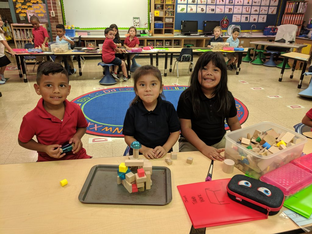 Students are learning about engineering. We used the stories of the 3 Little Pigs & the 3 Billy Goats Gruff. We did our best and used trial and error to build bridges and houses that would be strong enough to support our billy goats and withstand the wolf's huffing and puffing. Photo Credit: Ms. Quaas