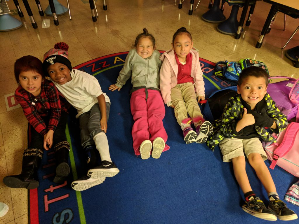 Students participate in Crazy Socks, Crazy Hair, & Crazy Colors Day.