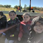 Students take part in a hayride.