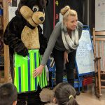 Happy Bear is a program from @Sunflowerhouse that teaches students about personal safety. Photo Credit: Ms. Quaas