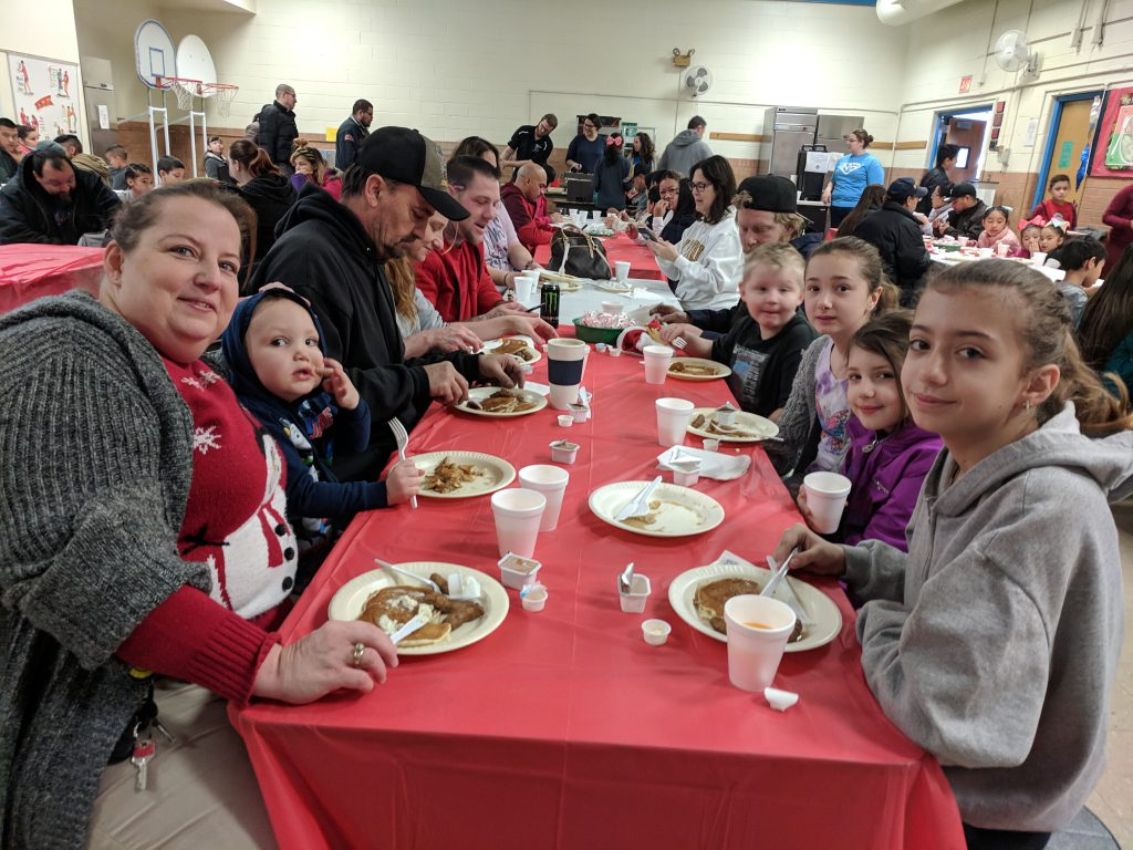 Students, Families, Staff & Community Members have a great time at New Stanley's 2nd Annual Pancakes for Parents!