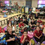 Kindergarten won the PTA's Box Top Contest to win a Popcorn Party! Photo Credit: Ms. Quaas