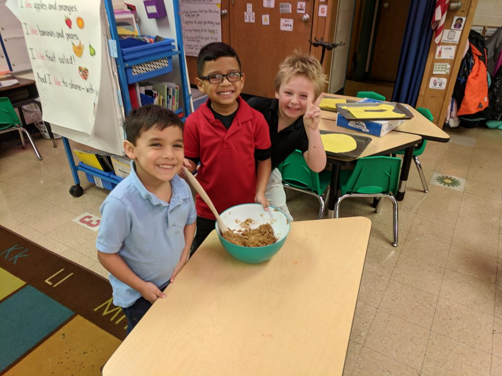 Ms. Mayer & Ms. Quaas' kindergarten continued the tradition of making a life-sized gingerbread kid! Everyone had a blast from the creation of the pattern and mixing to decorating and eating! Check out the fun! Photo Credit: Ms. QuaasMs. Mayer & Ms. Quaas' kindergarten continued the tradition of making a life-sized gingerbread kid! Everyone had a blast from the creation of the pattern and mixing to decorating and eating! Check out the fun! Photo Credit: Ms. Quaas