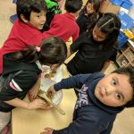 Ms. Mayer & Ms. Quaas' kindergarten continued the tradition of making a life-sized gingerbread kid! Everyone had a blast from the creation of the pattern and mixing to decorating and eating! Check out the fun! Photo Credit: Ms. Quaas