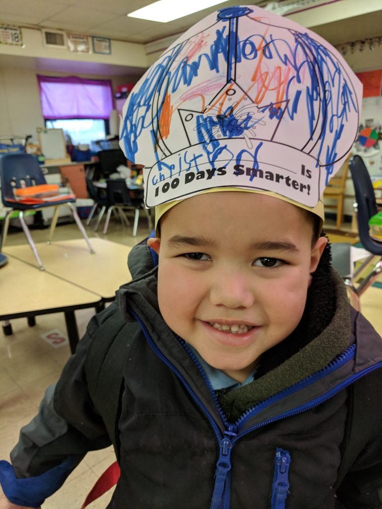 Students in Kindergarten celebrated the 100th day of school! It was a blast! Students participated in counting to 100, 100th day art, stories, and other fun! Photo Credit: Ms. Quaas