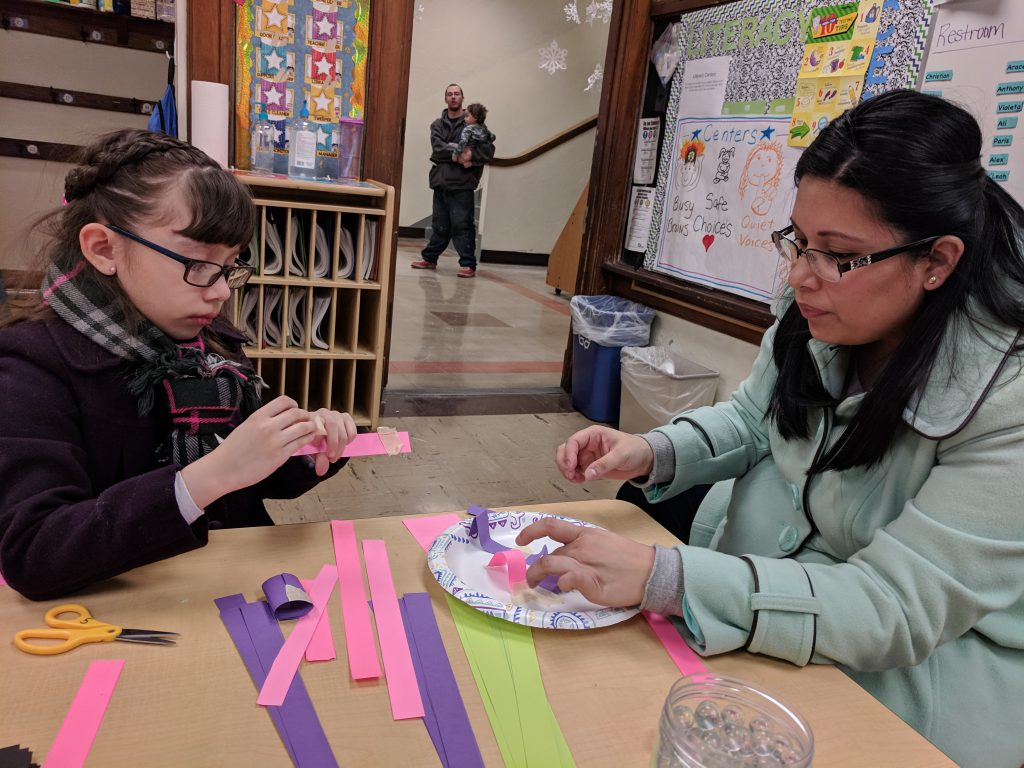 Families had the opportunity to participate in fun STEAM activities (Science, Technology, Engineering, Art, & Math). Photo Credit: Ms. Quaas
