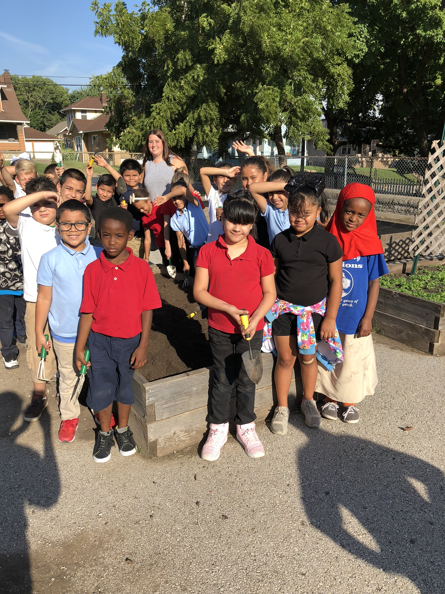 3rd Graders who participated in planting a bed in our school garden.