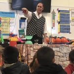 Students in Grades 1, 2, & 3 participated in a presentation called Tales with a Point presented by Jay & Leslie - Juggling & Other Nonsense. Photo Credit: Mrs. Yarbrough