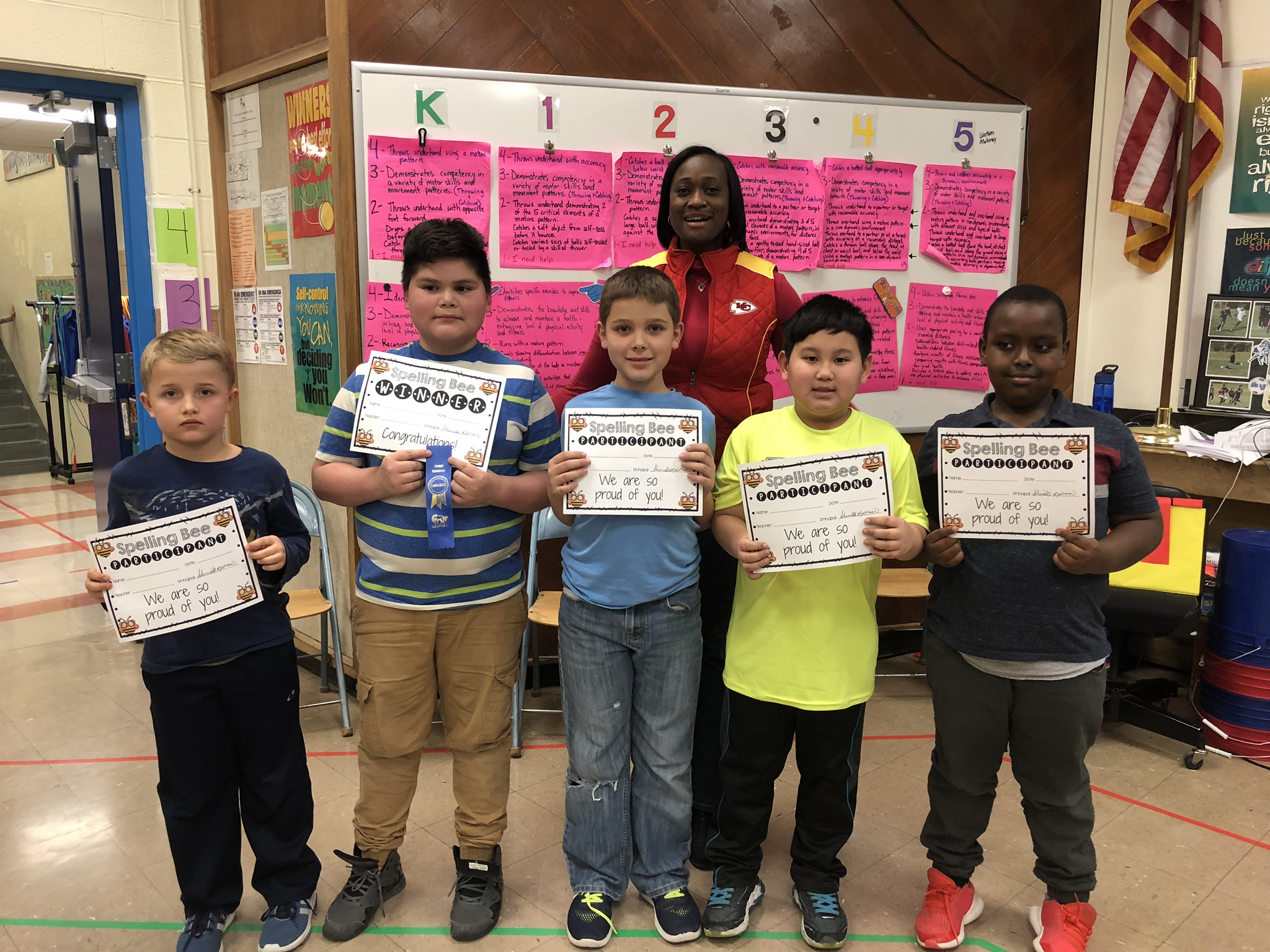 New Stanley Students participate in the Spelling Bee! Photo Credit: Mrs. Yarbrough