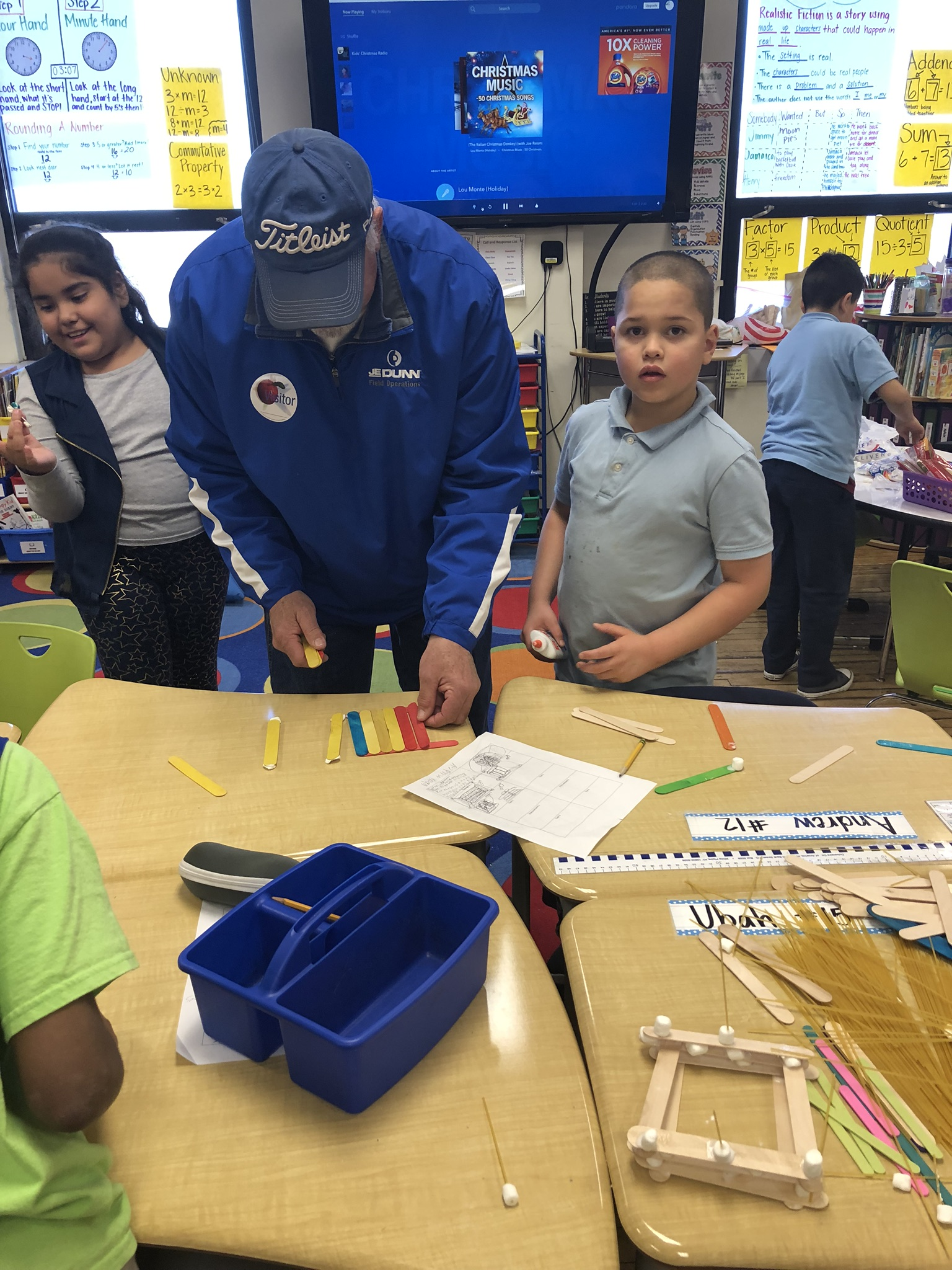 During Mrs. Yarbrough's Weather & Climate unit students worked to build homes. Photo Credit: Mrs. Yarbrough