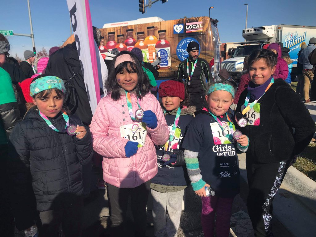 Students & staff participate in the GOTR Fall 5K at Children's Mercy Park. Photo Credit: Ms. Maddox