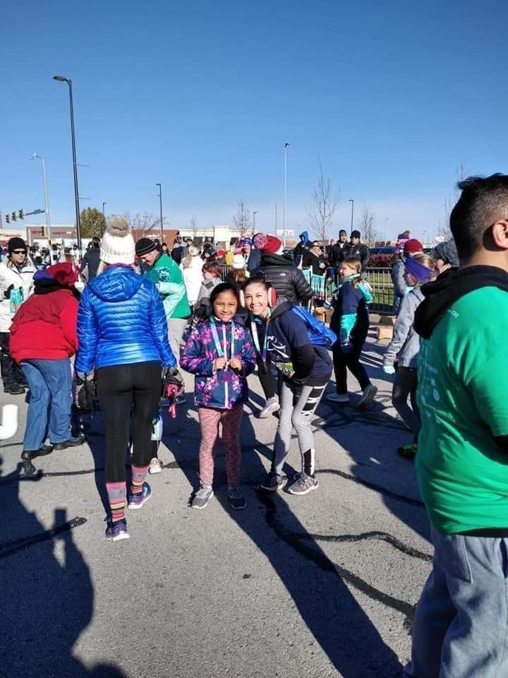 Students & staff participate in the GOTR Fall 5K at Children's Mercy Park. Photo Credit: Mrs. Everest